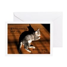Sit or Lie Tabby Kitten Greeting Cards (Package of