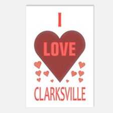 I Love Clarksville Postcards (Package of 8)