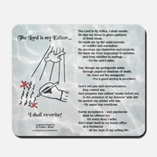 The Lord is My Editor Mousepad wWhite Sands