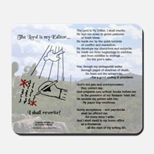 The Lord is My Editor Mousepad wDesert Sky
