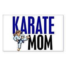 Karate Mom (OF GIRL) 3 Rectangle Decal