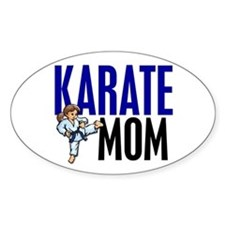 Karate Mom (OF GIRL) 3 Oval Bumper Stickers