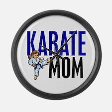 Karate Mom (OF GIRL) 3 Large Wall Clock