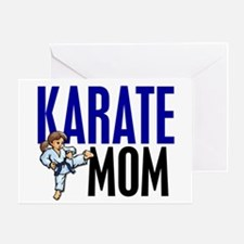 Karate Mom (OF GIRL) 3 Greeting Card