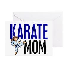 Karate Mom (OF GIRL) 3 Greeting Cards (Pk of 10)