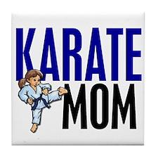 Karate Mom (OF GIRL) 3 Tile Coaster