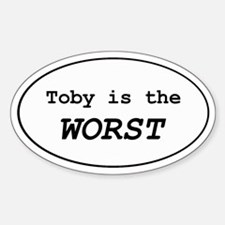 Toby 2.0 Oval Decal