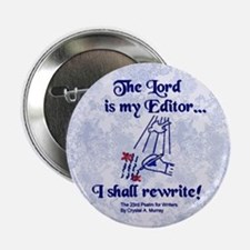 The Lord is My Editor Button - Light Purple