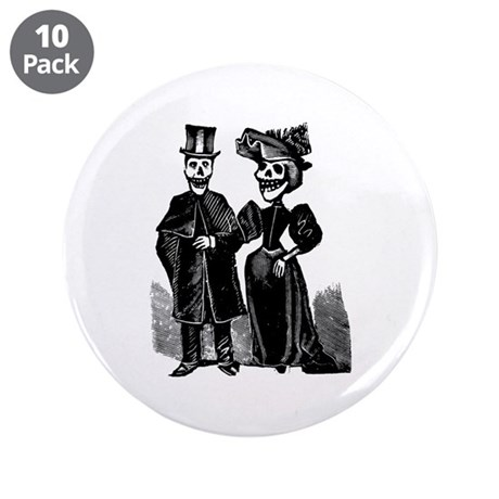"Calavera Don Ferruco 3.5"" Button (10 pack)"