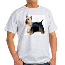 Silky Terrier Portrait Ash Grey T-Shirt