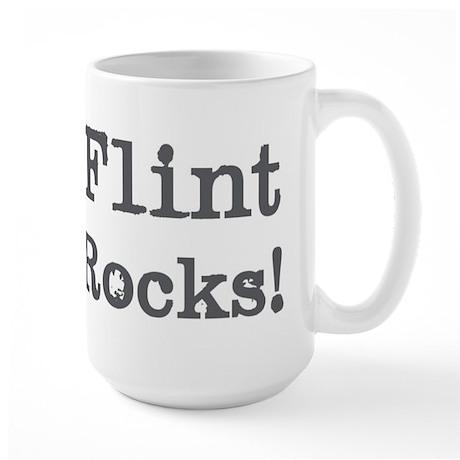 Flint rocks Large Mug
