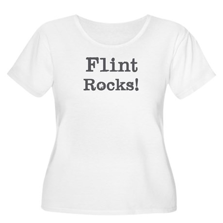 Flint rocks Women's Plus Size Scoop Neck T-Shirt