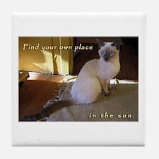 Siamese Sun Kitten Tile Coaster