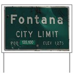 Fontana City Limits Sign