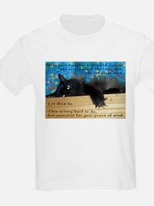 Nibbling Thoughts Black Cat Kids T-Shirt