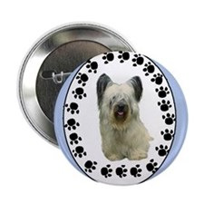 Skye Terrier portrait Button