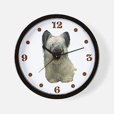 Skye Terrier portrait Wall Clock