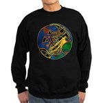 Celtic Hound & Bird Knot Black Sweatshirt