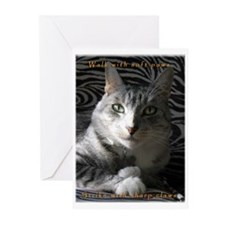 Grey Cat Paws n Claws Greeting Cards (Pk of 10