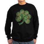 Irish Shamrock Spiral Design Black Sweatshirt