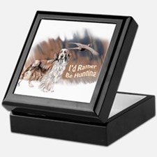 hunting welsh springer Keepsake Box