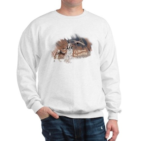 hunting welsh springer Sweatshirt