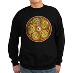 Lughnasadh Celtic Spiral Art Black Sweatshirt