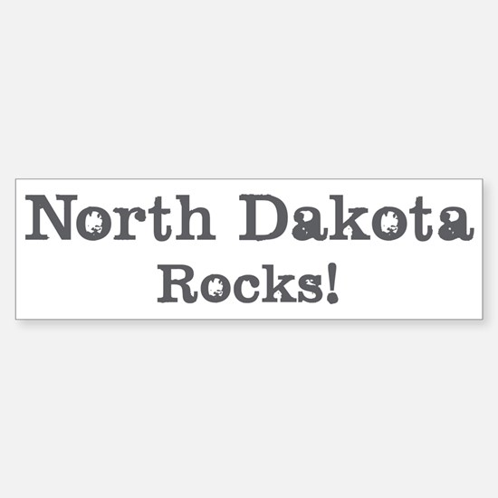 North Dakota rocks Bumper Bumper Bumper Sticker