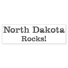 North Dakota rocks Bumper Bumper Sticker