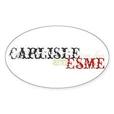 Carlisle and Esme Oval Decal