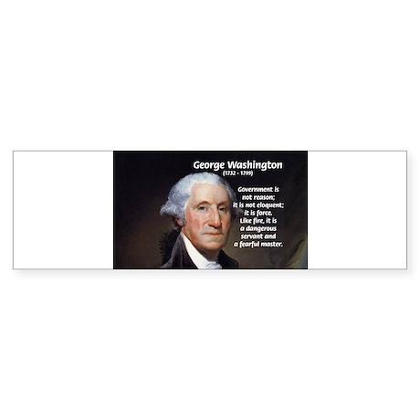 Politics: George Washington Bumper Sticker