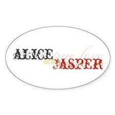 Alice and Jasper Twilight Oval Decal