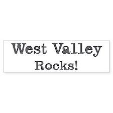 West Valley rocks Bumper Bumper Sticker
