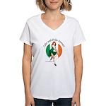 Irish Pin Up Girl Women's V-Neck T-Shirt