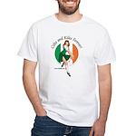 Irish Pin Up Girl White T-Shirt