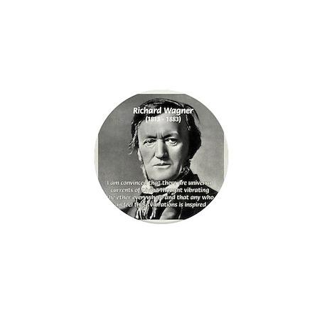 Musician Richard Wagner Mini Button