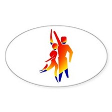 Latin Dancers #1 Oval Decal