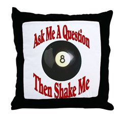Eight Ball Question Throw Pillow