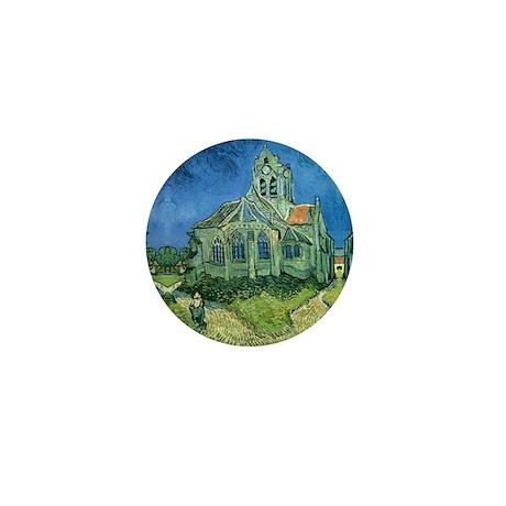 Van Gogh Church Mini Button