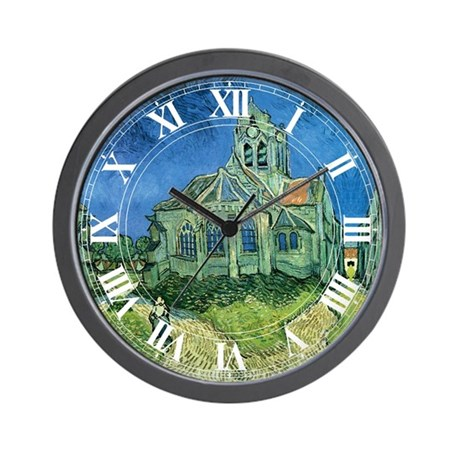 Van Gogh Church Wall Clock