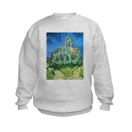 Van Gogh Church Kids Sweatshirt