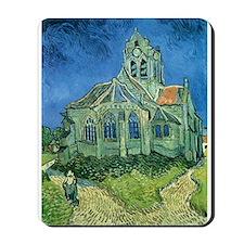 Van Gogh Church Mousepad