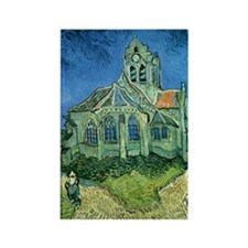 Van Gogh Church Rectangle Magnet (10 pack)