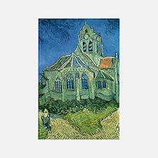 Van Gogh Church Rectangle Magnet