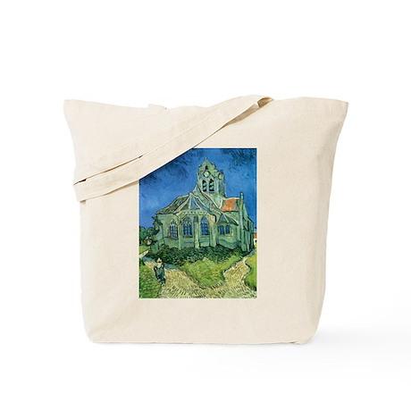 Van Gogh Church Tote Bag