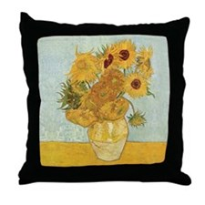 Van Gogh Sunflowers Throw Pillow