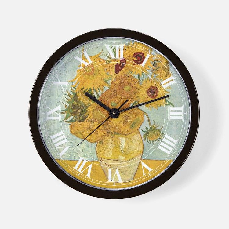 Van Gogh Sunflowers Wall Clock