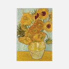 Van Gogh Sunflowers Rectangle Magnet (10 pack)