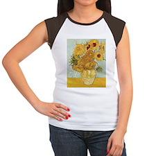 Van Gogh Sunflowers Women's Cap Sleeve T-Shirt