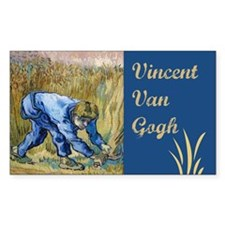 Van Gogh The Reaper Rectangle Decal